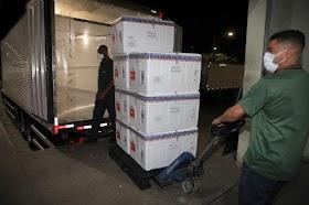Mais de 1 milhão de vacinas contra covid-19 chegam ao estado