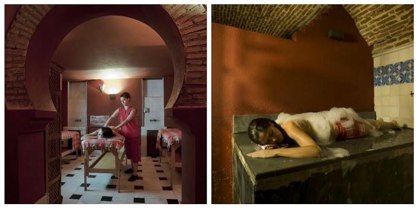 Salas de masaje en baño árabe en Madrid