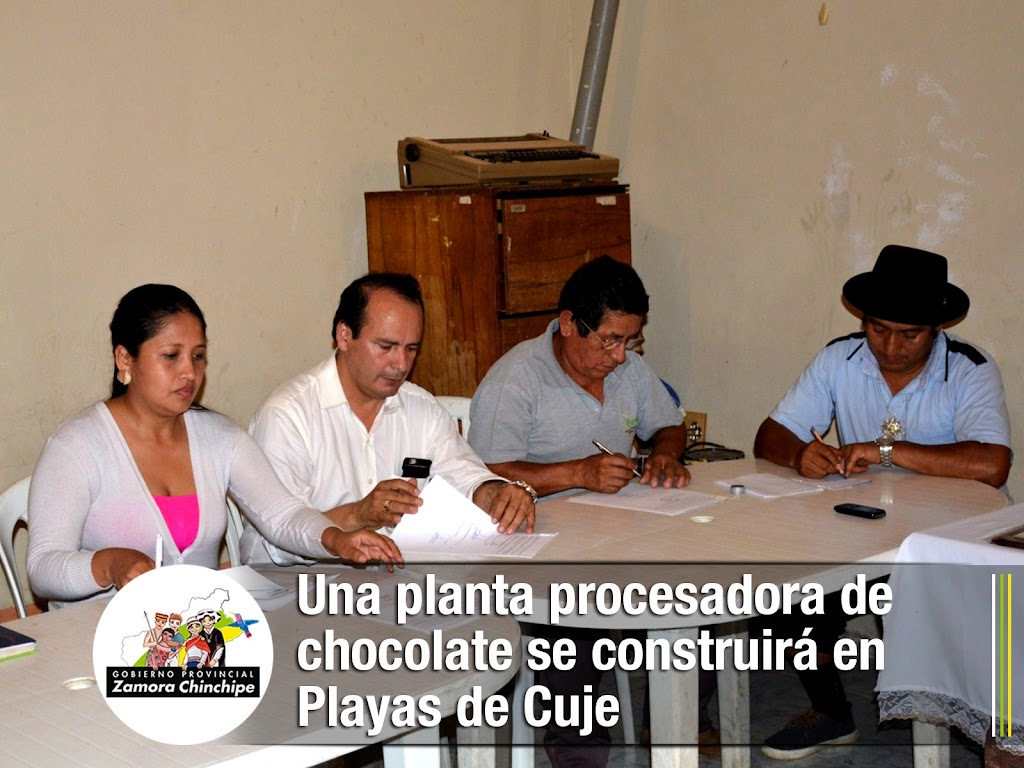 UNA PLANTA PROCESADORA DE CHOCOLATE SE CONSTRUIRÁ EN PLAYAS DE CUJE