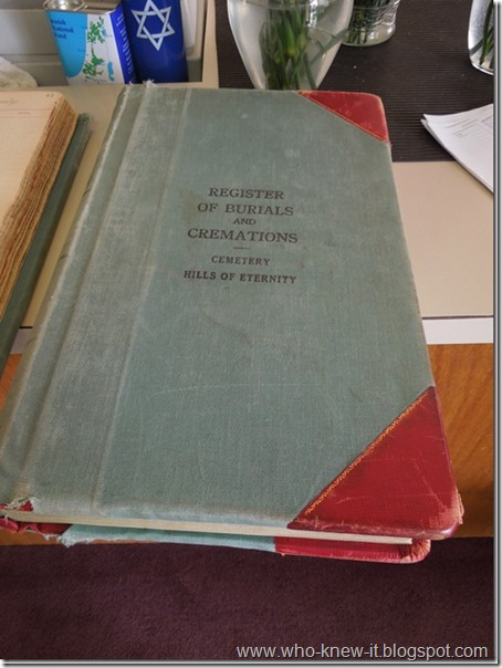 Hills of Eternity Register Book