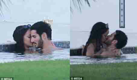Rihanna and mystery man spotted kissing passionately in Spain