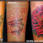 shark flower - tattoo designs