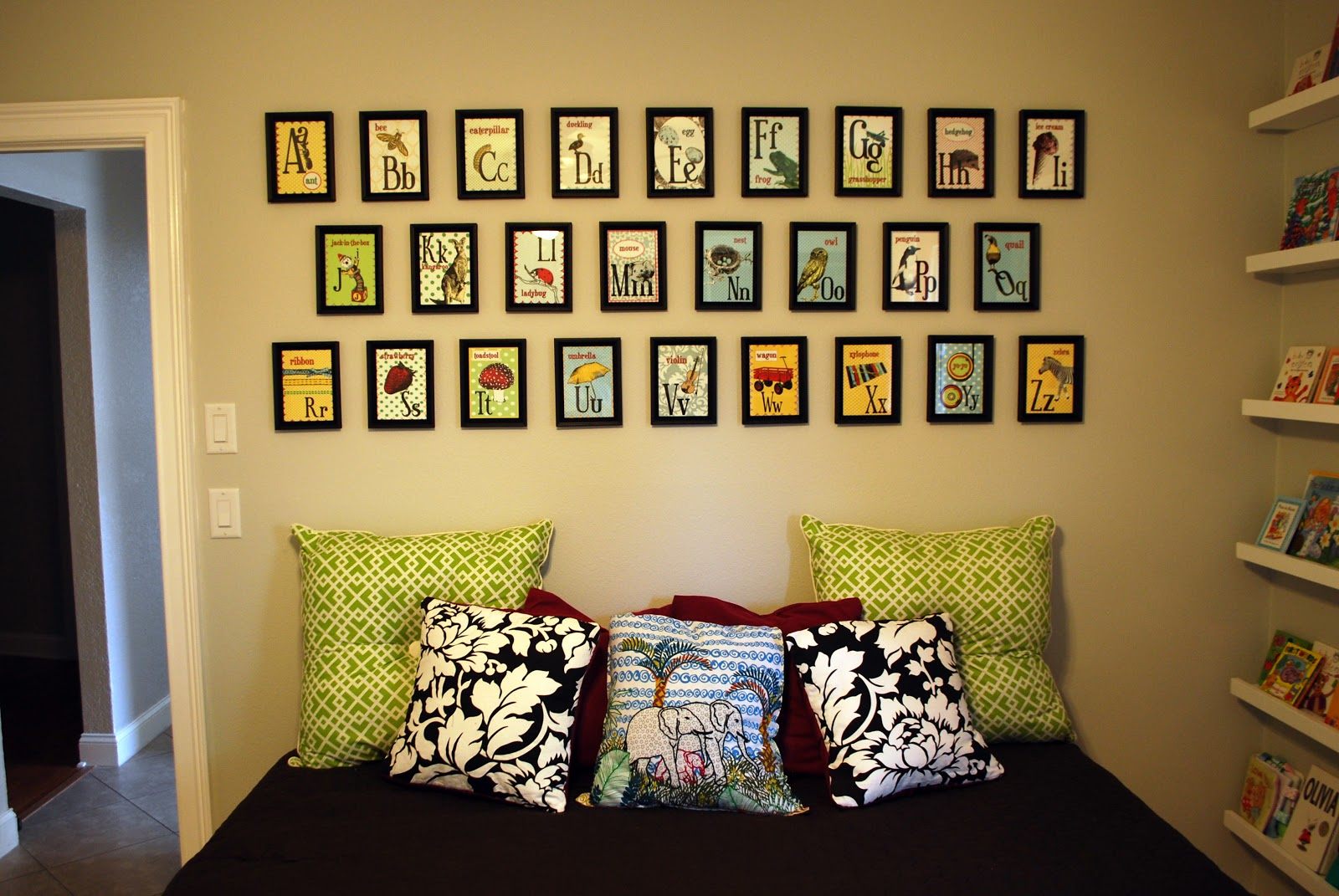 Kara\'s Korner: Nursery Room - Alphabet Wall Decor