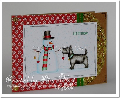 Christmas Scottie with Snowman (2)