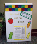 School Supply Drive Collection Box