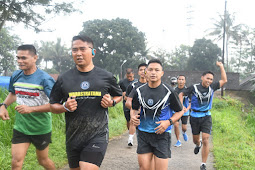 Pembinaan Fisik Lari 10K, Kasrem 074/Warastratama Saat Silaturahmi ke Makodim 0724/Boyolali