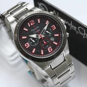 jam tangan  Alexandre Christie 6345MC Silver list RED