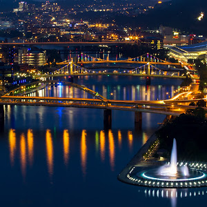 Pittsburgh Bridges at Night (1 of 1).jpg