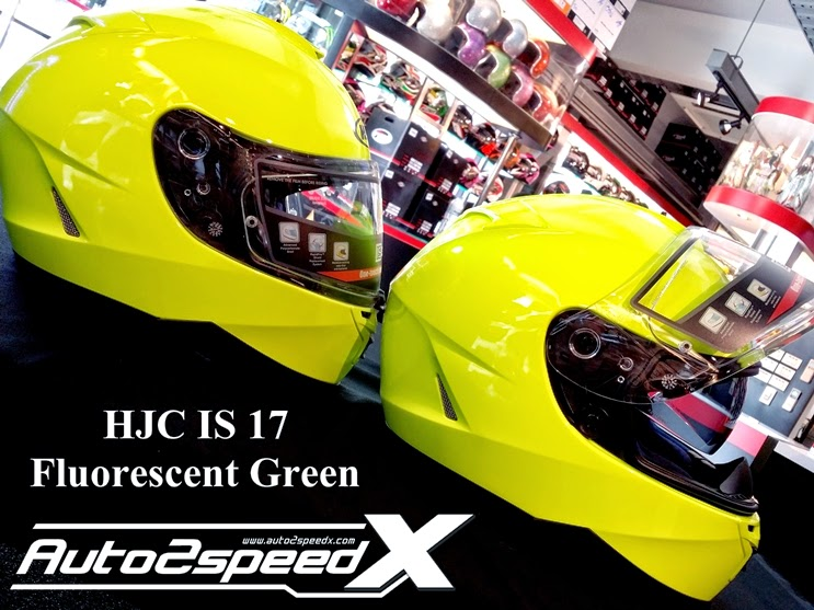 HJC IS 17 Fluorescent Green