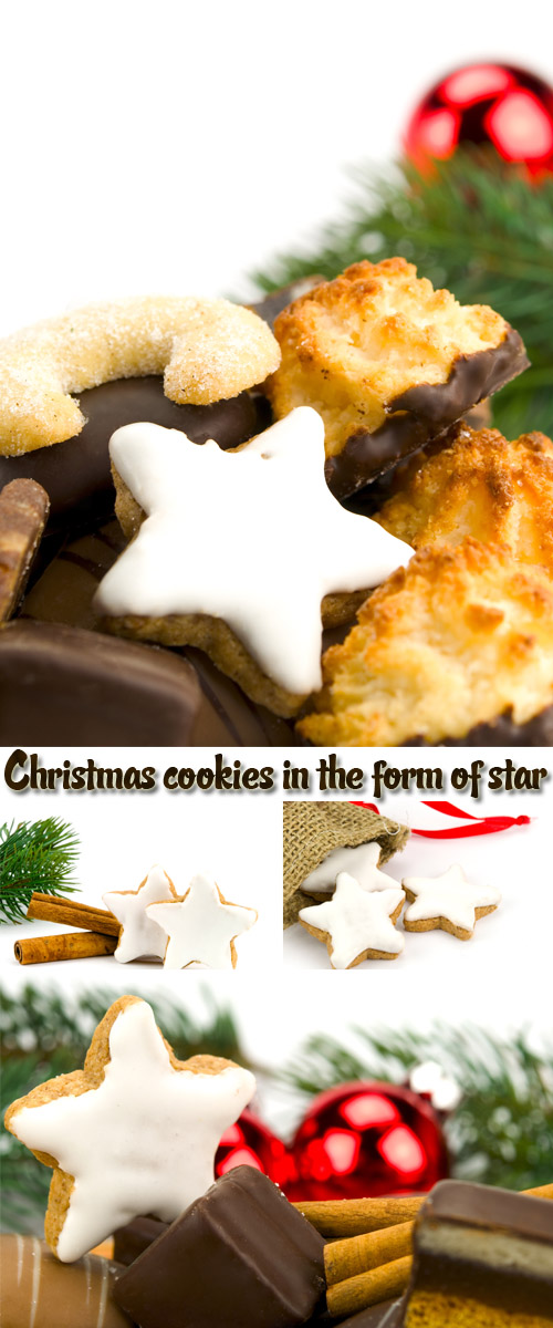 Stock Photo: Christmas cookies in the form of star
