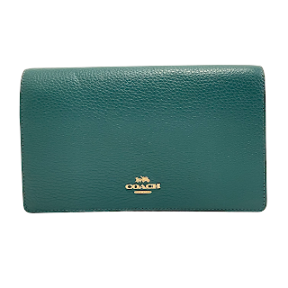 Coach Green Leather Wallet