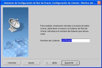 Configuración del Listener, Nombre de red, en Oracle Client 11g y Windows XP