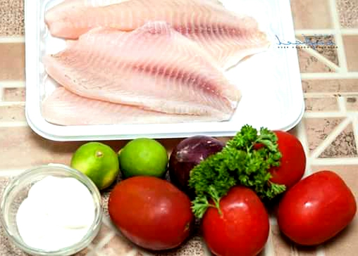 Fried Fish Fillet with Lime Tomato Sauce Ingredients