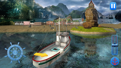 Fishing Boat Driving Simulator : Ship Games 2.0 screenshots 1