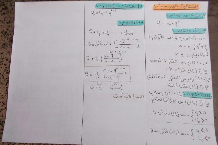المتتاليات العددية ( ملخص + سلسلة تمارين ) DSCF2652.JPG