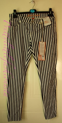Primark black and white striped jeans