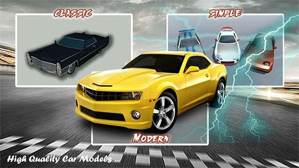 لعبة السيارات Thunder Race 1