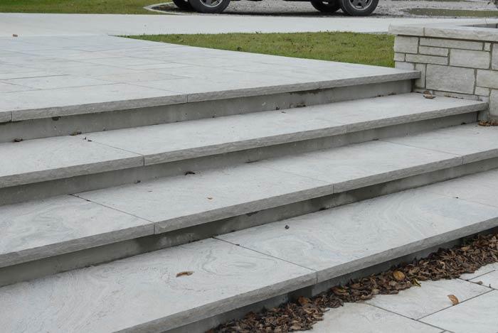 Superieur Polished Eramosa Limestone Stairs Eramosa Limestone Steps ...