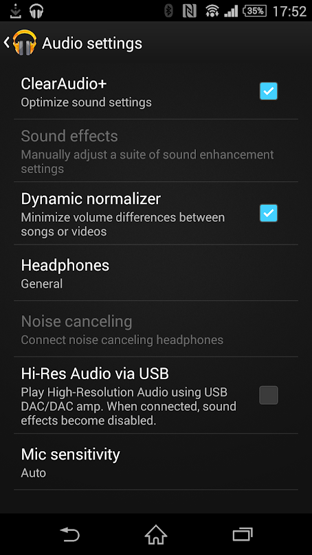 Xperia Z3 Audio