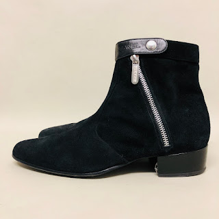 Chanel Suede Leather Ankle Boots (SAMPLE)