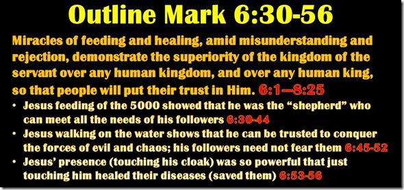 Mark 6.30-56 outline
