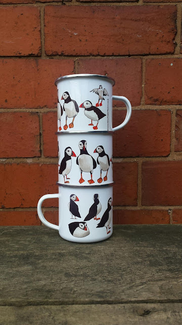 Puffin Enamel Mug by Alice Draws The Line.co.uk