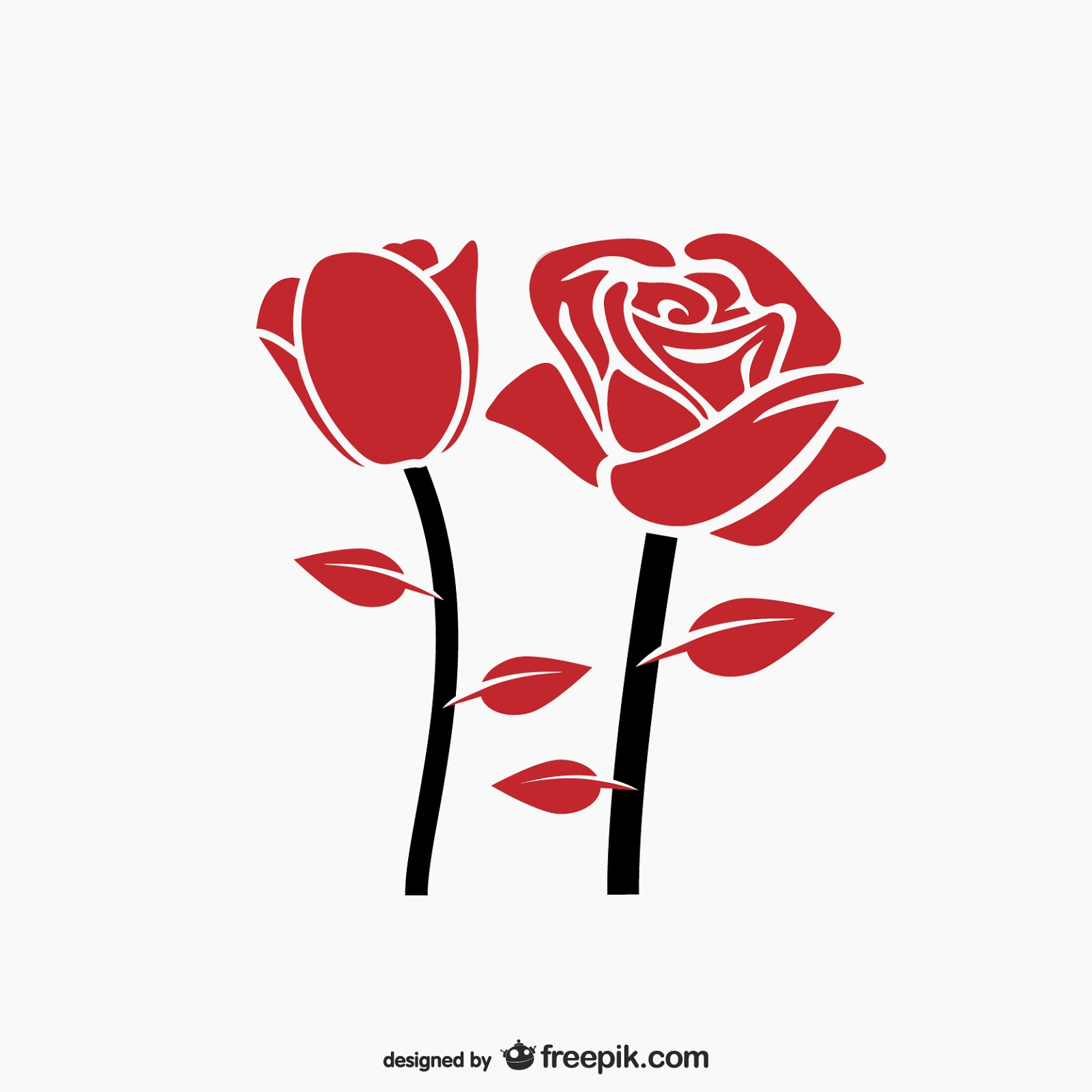 Red Rose Vector Free Download Vector CDR, AI, EPS and PNG Formats