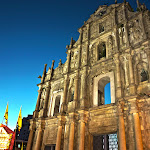 Ruínas de São Paulo (大三巴牌坊) - A view of Macau's iconic 16th century Saint Paul's Cathedral. Destroyed by a fire in the 19th century, the site has been protected as UNESCO World Heritage Site since 2005.