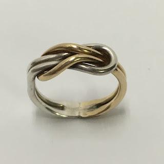 14 K Gold & Sterling Silver Ring