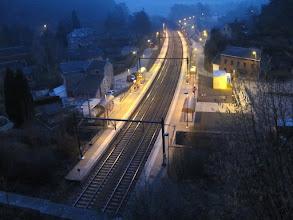 Photo: Gare de Fraipont le 19/02/2011, tôt le matin !