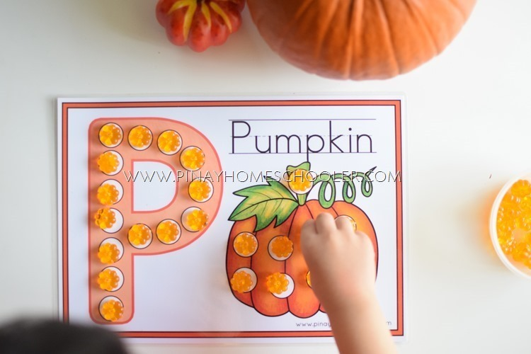 FREE LETTER P Dot Activity