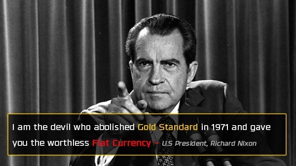 Nixon Abolished Gold Standard  - Bitcoin Is Scam