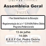Assembleia Geral da categoria dia 13/07/11