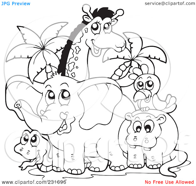 African Animals Coloring Pages Printable Ecolorings
