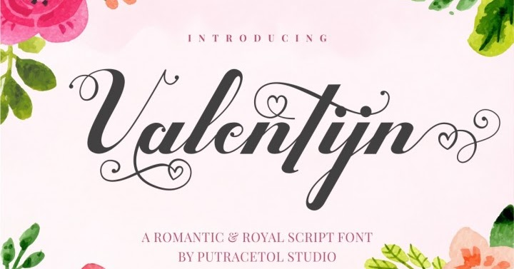 Download Valentijn - Romantic Font Family From PutraCetol Studio