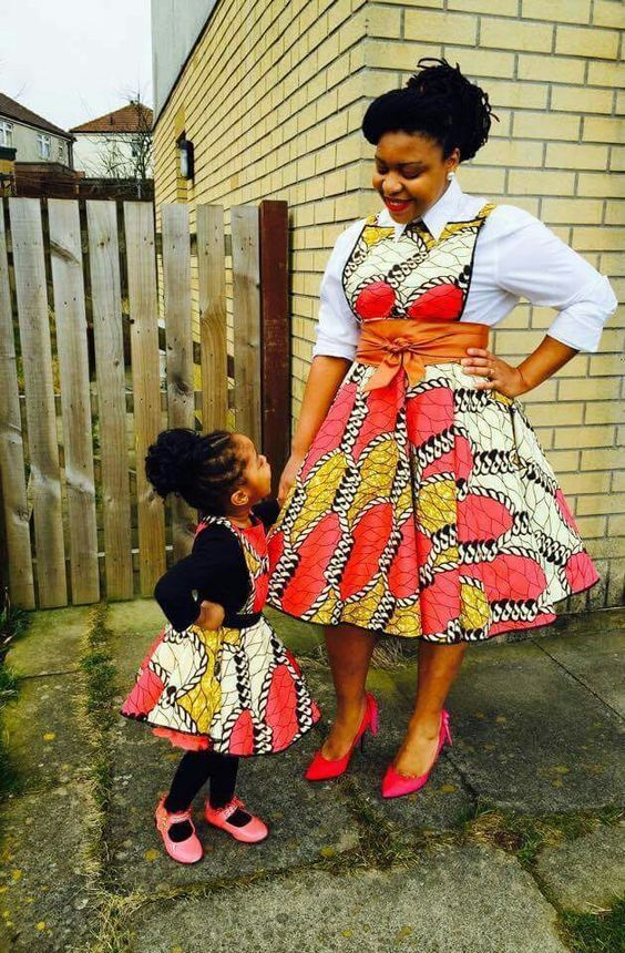 THE ENVIABLE ANKARA LADIES STYLES YOU SHOULD STEAL FROM MUM AND DAUGHTER IN 2018 10
