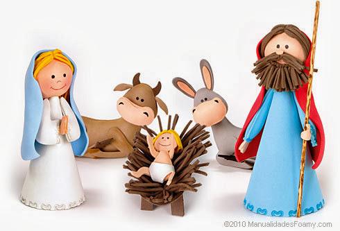presépio em EVA decoração natalina