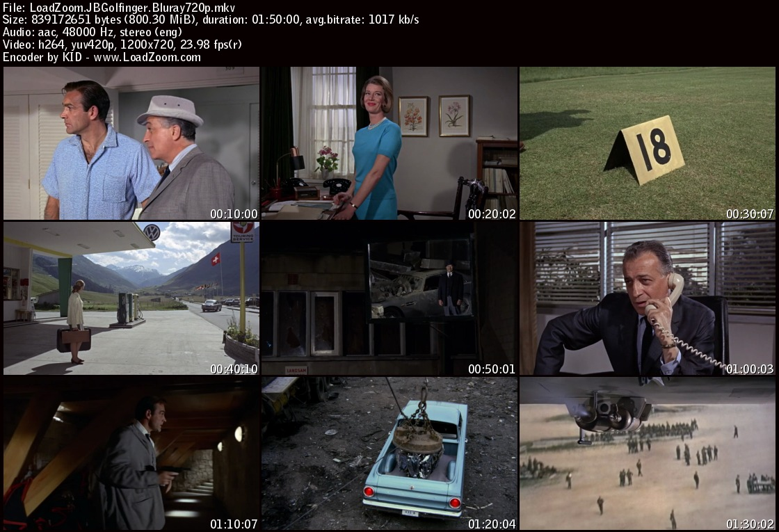 movie screenshot of jamesbond Goldfinger fdmovie.com