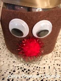 Reindeer Mason Jar Gift @ Julie's Creative Lifestyle