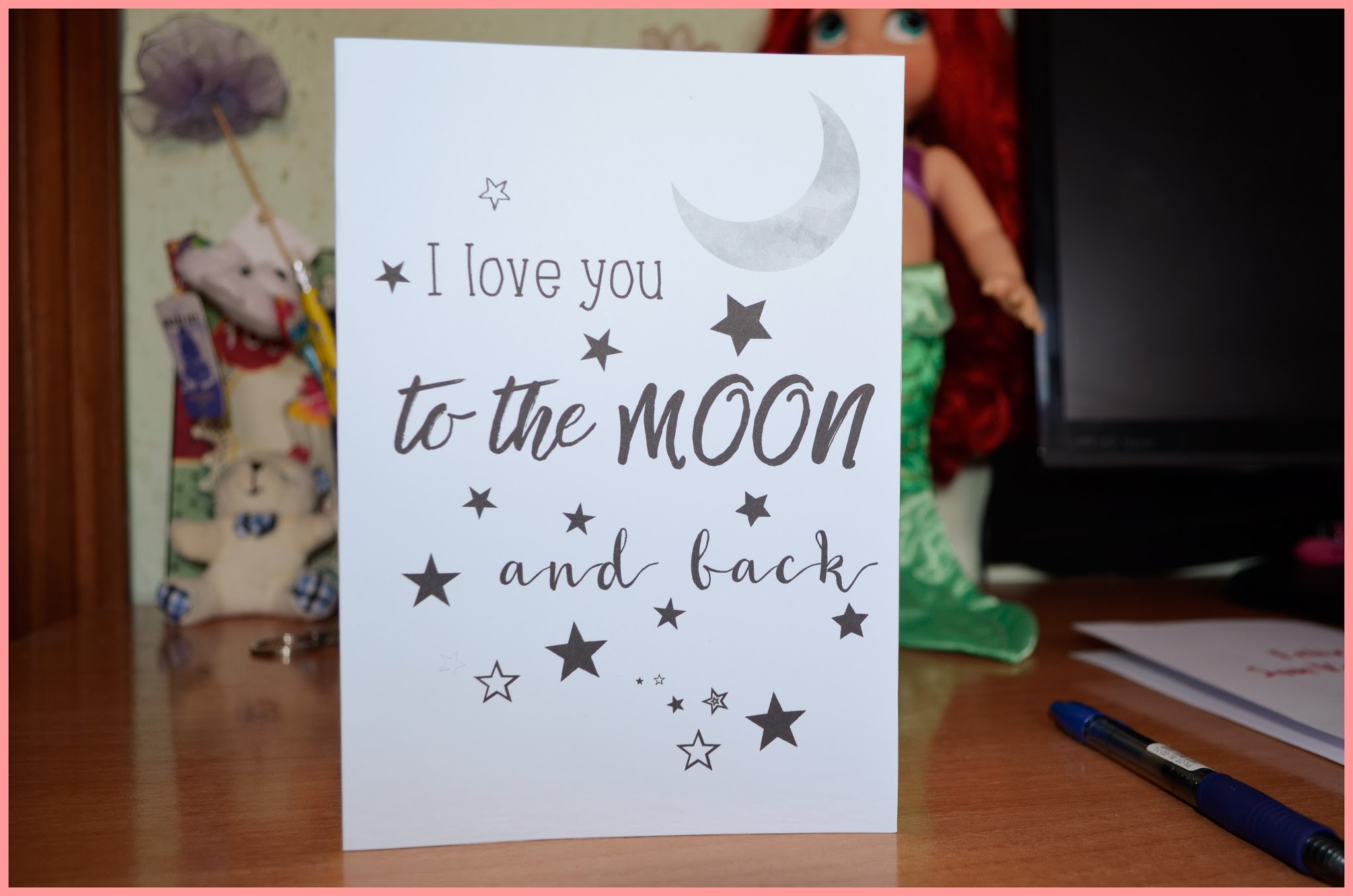 I love you to the moon and back - Tarjeta