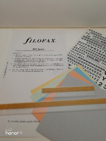 Vintage filofax