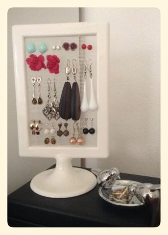 Buonaserababy Ikea Hack Diy Earring Display Stand