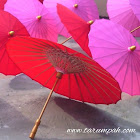 Payung hias bentuk daun