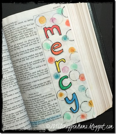 Bible Art Surely Goodness and Mercy
