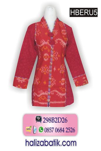 HBERU5 Model Batik Kerja, Model Baju Terbaru, Grosir Baju, HBERU5
