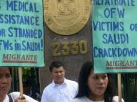 Arabie Saoudite : 11.000 travailleurs Philippins bloqués