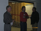 Commodore Bill Small, Project Manager, Bobby D'Azevedo, and Architect, Will Gwilliam
