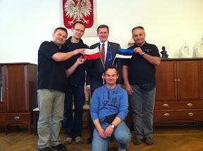 At the Polish Embassy in Tallinn