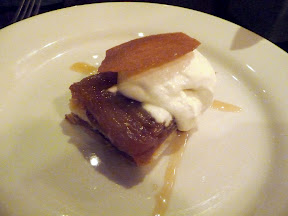 Meriwether's Sunday Supper series with Portland Creamery Apple Tart Tatin with Portland Creamery cajeta and apple mousse