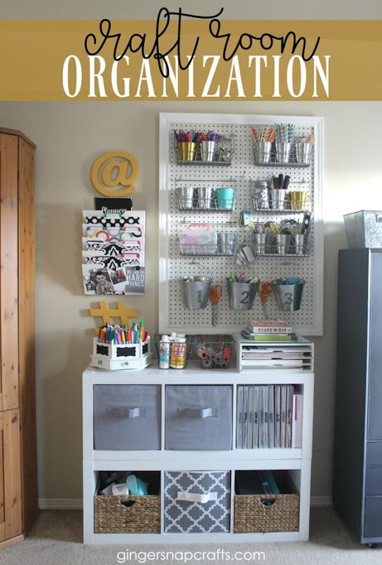 Craft Room Organization at GingerSnapCrafts.com #organization #craftroom